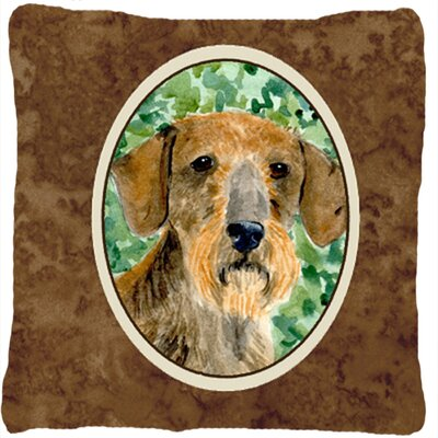Dachshund Brown Indoor/Outdoor Throw Pillow