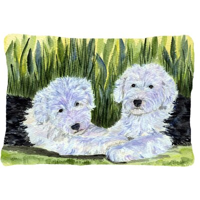 Old English Sheepdog Indoor/Outdoor Throw Pillow