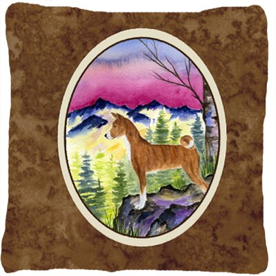 Basenji Brown Indoor/Outdoor Throw Pillow