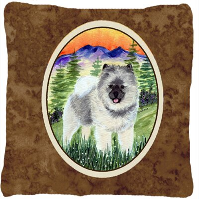 Keeshond Indoor/Outdoor Throw Pillow