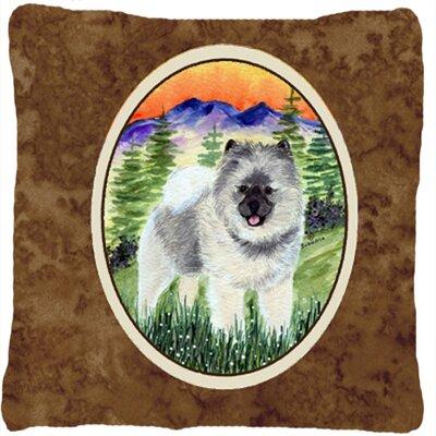 Keeshond Indoor/Outdoor Throw Pillow