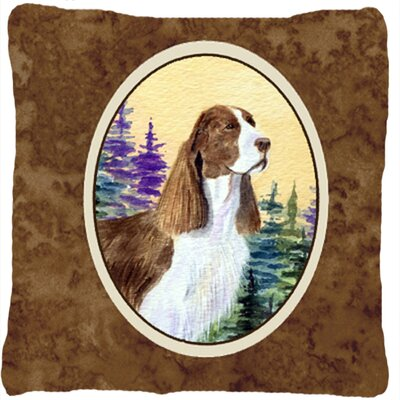 Brown Springer Spaniel Indoor/Outdoor Throw Pillow