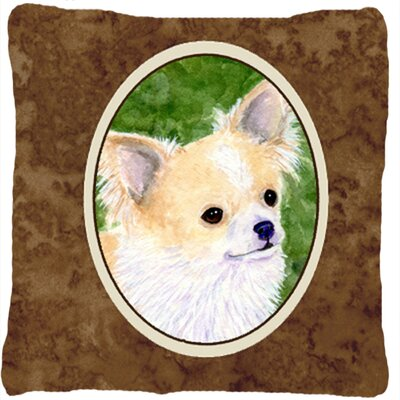 Chihuahua Square Brrown Indoor/Outdoor Throw Pillow