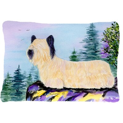 Rectangular Skye Terrier Indoor/Outdoor Throw Pillow