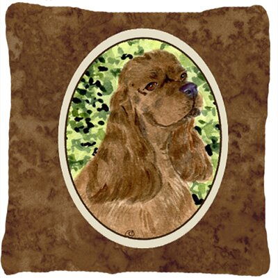 Cocker Spaniel Head Indoor/Outdoor Throw Pillow