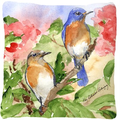 Blue Bird Indoor/Outdoor Throw Pillow