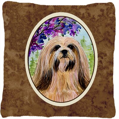 Lhasa Apso Indoor/Outdoor Throw Pillow
