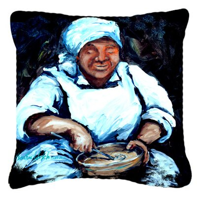 Hot Water Cornbread Indoor/Outdoor Throw Pillow Size: 18 H x 18 W x 5.5 D