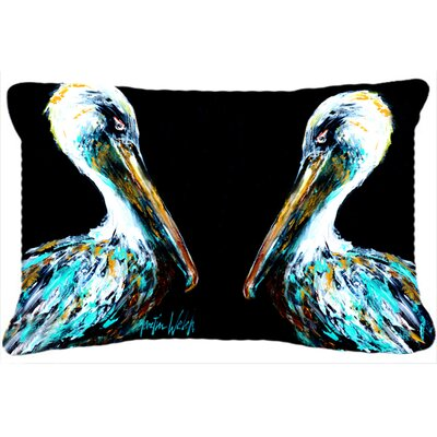 Dressed in Black Pelican Indoor/Outdoor Throw Pillow