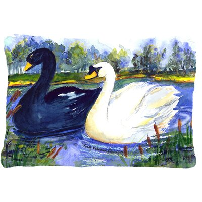 Swan Indoor/Outdoor Throw Pillow