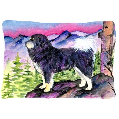 Tibetan Mastiff Modern Indoor/Outdoor Throw Pillow