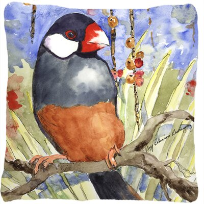 Java Sparrow Indoor/Outdoor Throw Pillow