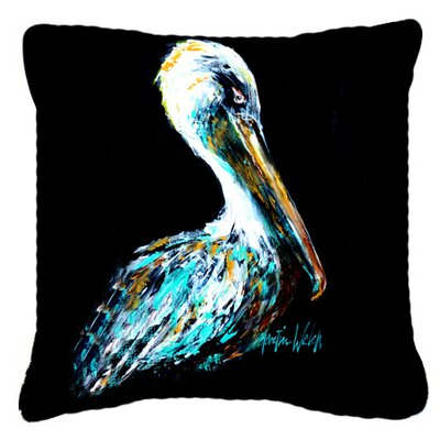 Dressed in Black Pelican Indoor/Outdoor Throw Pillow Size: 14 H x 14 W x 4 D