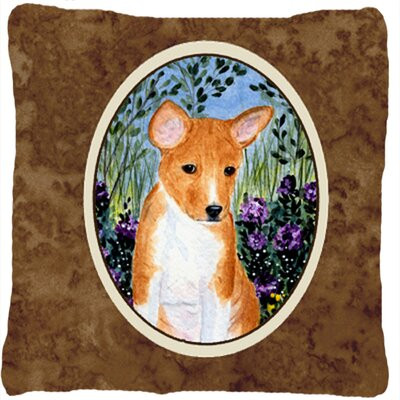 Basenji Modern Indoor/Outdoor Throw Pillow