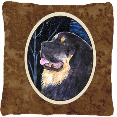 Starry Night Tibetan Mastiff Indoor/Outdoor Throw Pillow