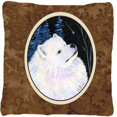 Starry Night Samoyed Indoor/Outdoor Throw Pillow