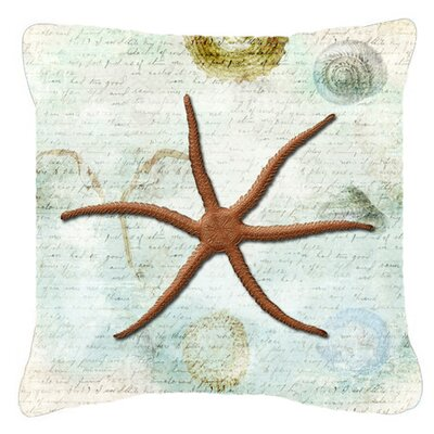 Starfish Indoor/Outdoor Throw Pillow Size: 18 H x 18 W x 5.5 D