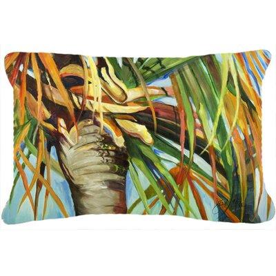 Orange Top Palm Tree Indoor/Outdoor Throw Pillow