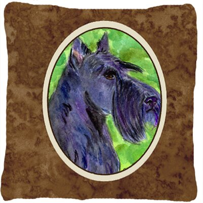 Scottish Terrier Square Brown Indoor/Outdoor Throw Pillow
