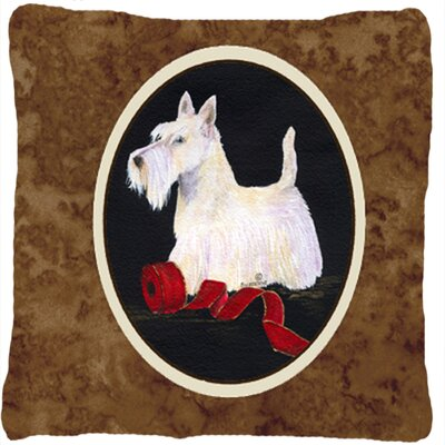 Scottish Terrier Modern Brown Indoor/Outdoor Throw Pillow