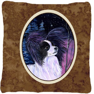 Starry Night Papillion Indoor/Outdoor Throw Pillow