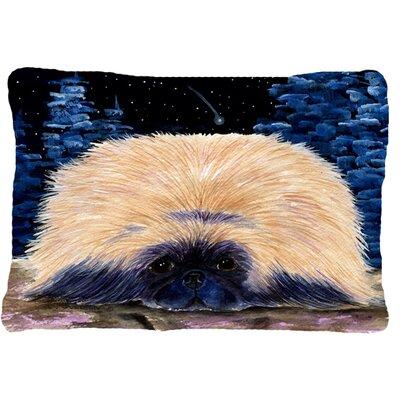 Starry Night Pekingese Indoor/Outdoor Throw Pillow