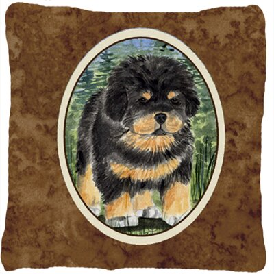 Tibetan Square Mastiff Indoor/Outdoor Throw Pillow