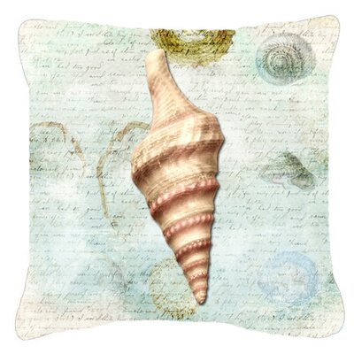 Balderston Coastal White Indoor/Outdoor Throw Pillow Size: 14 H x 14 W x 4 D