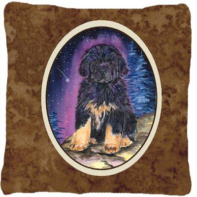 Starry Night Tibetan Mastiff Indoor/Outdoor Throw Pillow