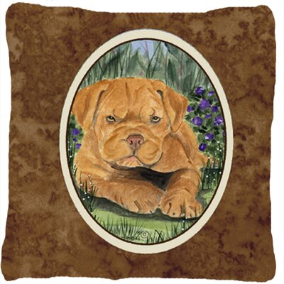 Dogue De Bordeaux Indoor/Outdoor Throw Pillow