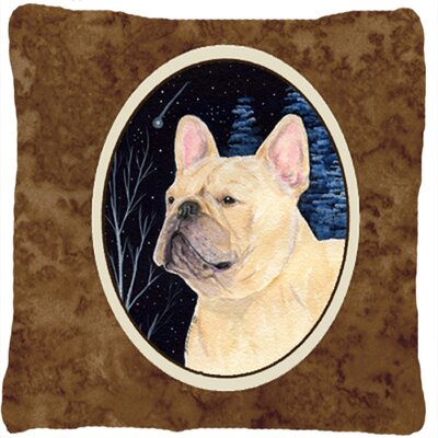 Starry Night French Bulldog Indoor/Outdoor Throw Pillow