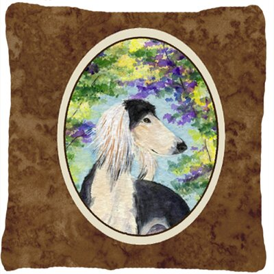 Saluki Indoor/Outdoor Throw Pillow