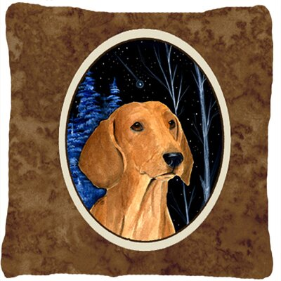 Starry Night Dachshund Indoor/Outdoor Throw Pillow