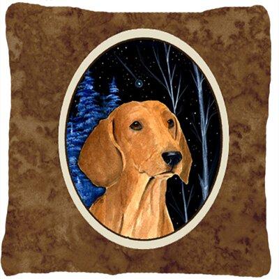 Starry Night Dachshund Indoor/Outdoor Throw Pillow