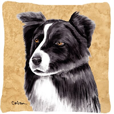 Border Collie Indoor/Outdoor Rectangular Throw Pillow