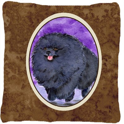 Pomeranian Indoor/Outdoor Graphic Print Throw Pillow