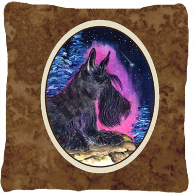 Starry Night Scottish Terrier Indoor/Outdoor Throw Pillow