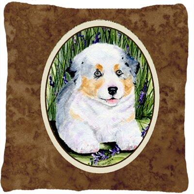 White Australian Shepherd Indoor/Outdoor Throw Pillow