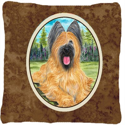 Briard Modern Indoor/Outdoor Throw Pillow