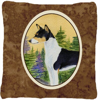 Basenji Square Indoor/Outdoor Throw Pillow