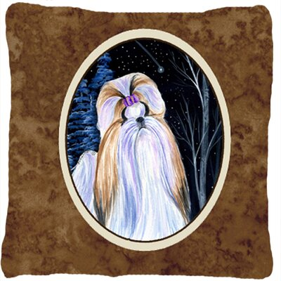 Starry Night Shih Tzu Indoor/Outdoor Throw Pillow