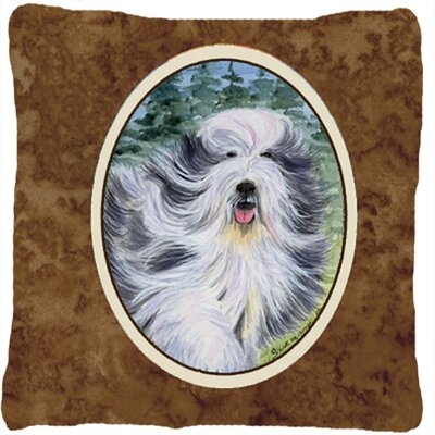 Bearded Collie Graphic Print Indoor/Outdoor Throw Pillow