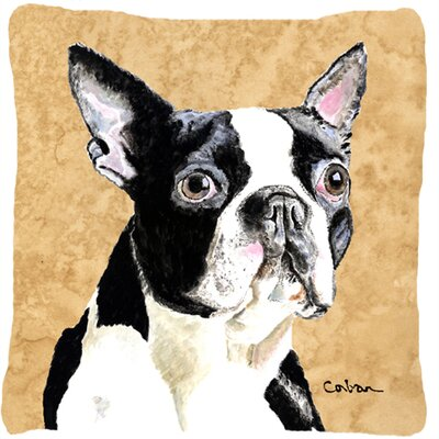 Boston Terrier Indoor/Outdoor Square Throw Pillow