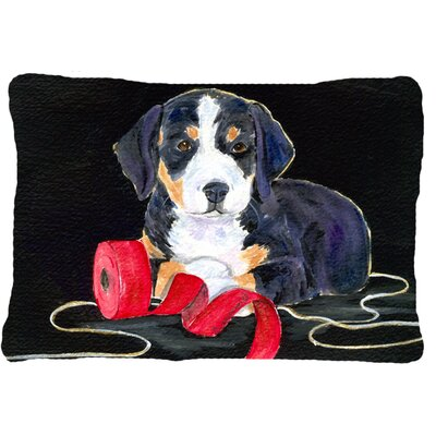 Entlebucher Mountain Dog Indoor/Outdoor Throw Pillow