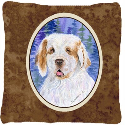 Clumber Spaniel Indoor/Outdoor Throw Pillow