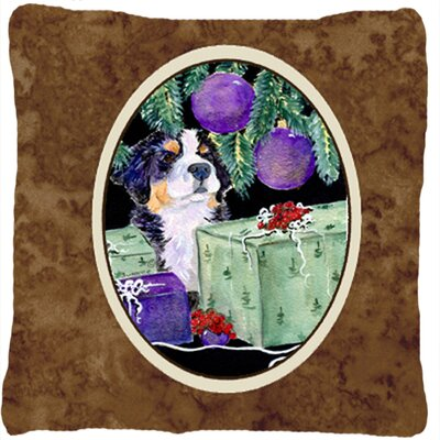 Dog with Gift Boxes Indoor/Outdoor Throw Pillow