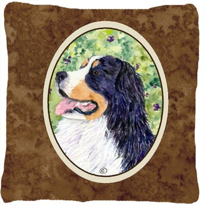 Modern Dog Square Brown Indoor/Outdoor Throw Pillow