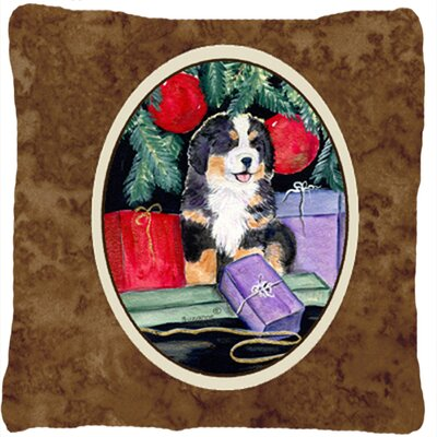 Modern Dog with Gift Boxes Indoor/Outdoor Throw Pillow