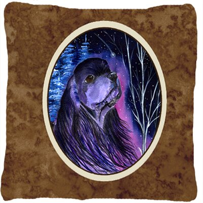 Starry Night Cocker Spaniel Indoor/Outdoor Throw Pillow