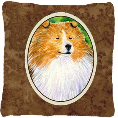 Collie Square Indoor/Outdoor Throw Pillow